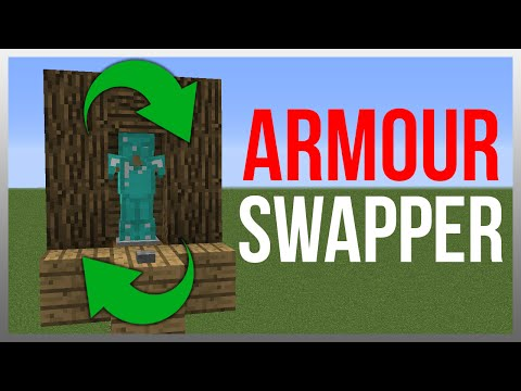 Minecraft 1.12: Redstone Tutorial - Armour Stand Swapper!