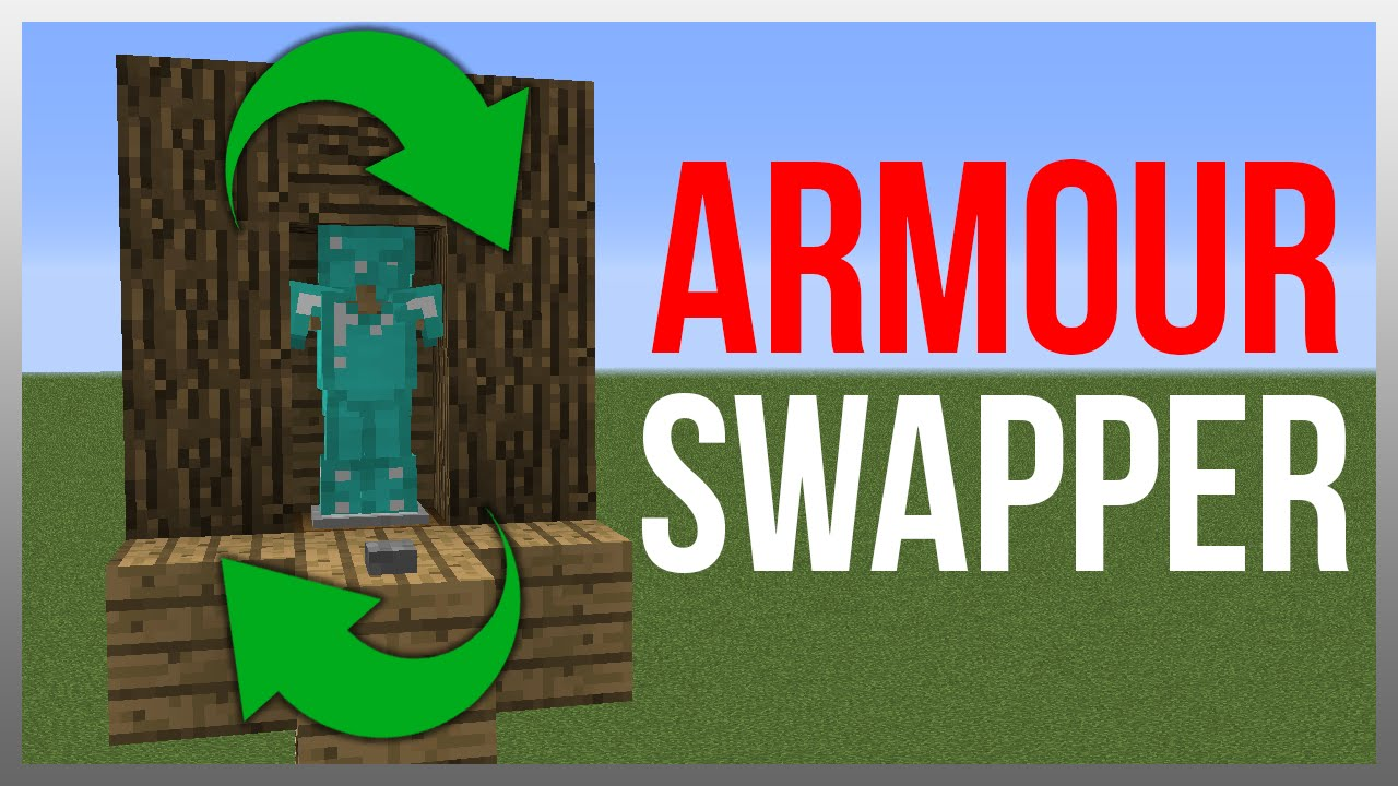 Minecraft 112 redstone tutorial armour stand swapper youtube malvernweather Images