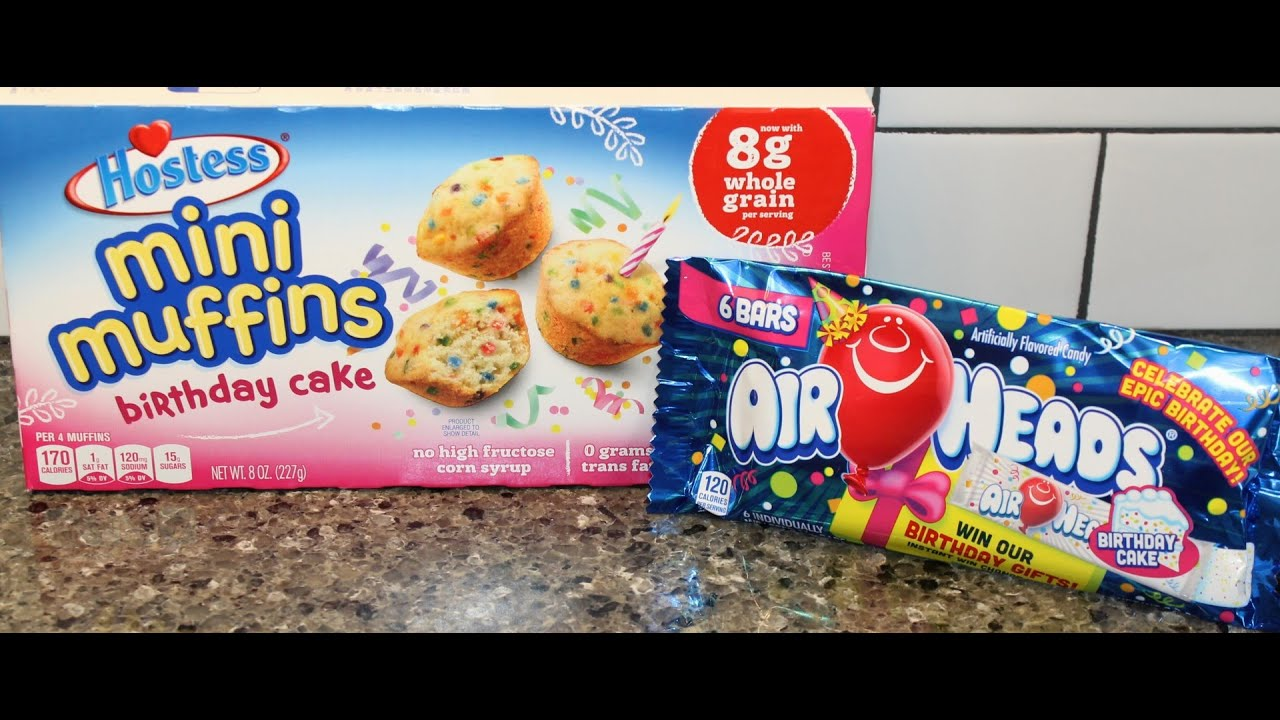 Hostess Mini Muffins Birthday Cake Amp Air Heads Birthday