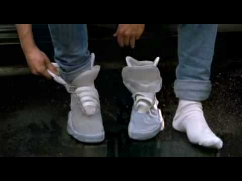 262dc9734de658 Marty McFly s Power-lacing Nike shoes - YouTube