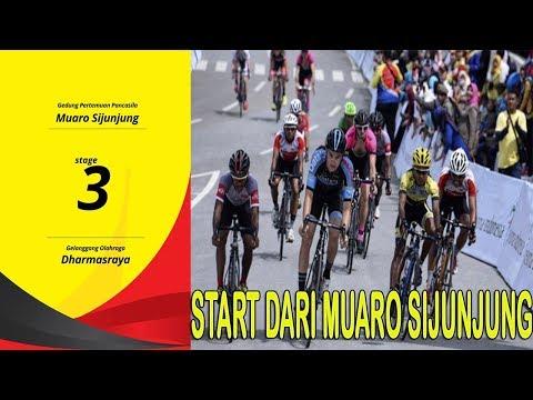 Tour De Singkarak 2017 Start Dari Gedung Pertemuan Pancasila Muaro Sijunjung