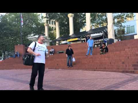 Portland OR.10-08-15.Pioneer Sq.outreach.Part 1.Preaching and Youth discussion