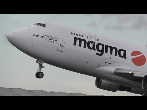 B747 Air Atlanta Icelandic In New LIVERY Departs To Frankfurt Germany From Doncaster Airport (uk)