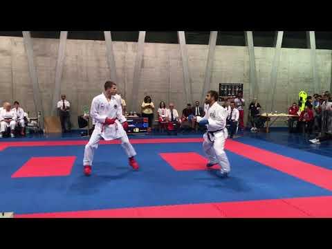 Basel Open Masters 2018- Senior Male Kumite -75kg: Aghayev (AZE) vs Kellaway (ENG)