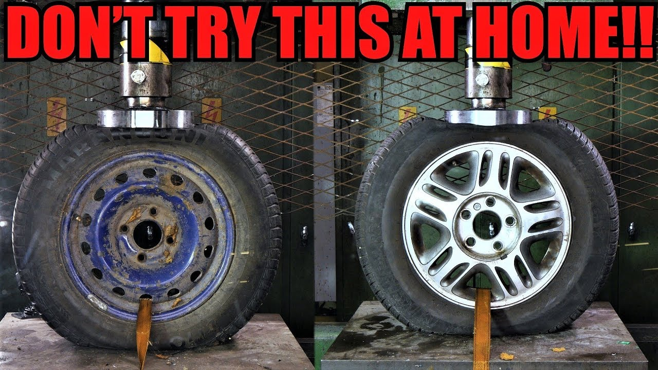 Rims Vs Wheels >> STEEL Vs. ALLOY WHEELS Which One Is Stronger? Hydraulic Press Test! - YouTube