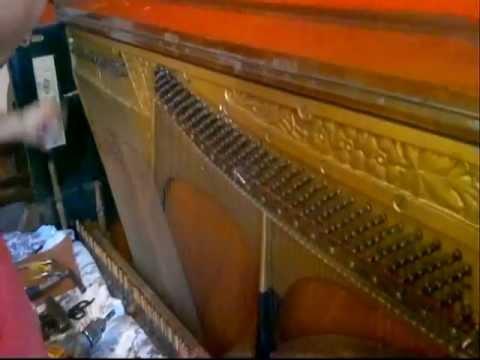 Редкой сохранности антикварный немецкий рояль