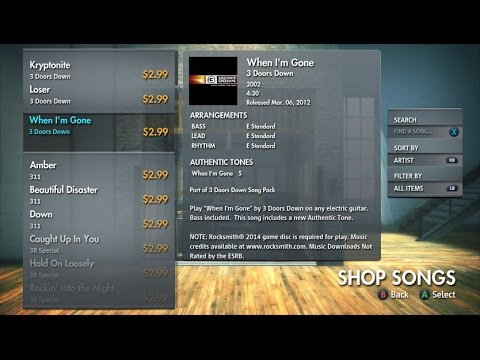 Rocksmith - Fast Way to Download DLC from Xbox 360 to Xbox One