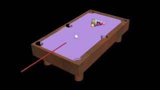 3D Animation of Billiard Table