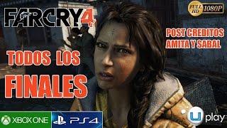 Far Cry 4 Todos los Finales Español - Final Bueno y Malo Sabal, Amita Pagan Min Ending Post Creditos