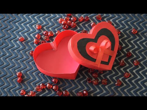 How to make a Heart Shaped paper Gift Box |paper craft ideas |parul pawar