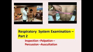 Examination of Respiratory System  Part 2