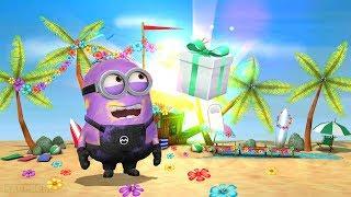 Despicable Me 2 Minion Rush - Purple Evil Minion vs Athenian Minion in Special Beach Party Event