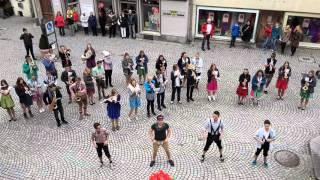 Flashmob Jugendblasorchester Bad Waldsee (JBO) Rock Mi