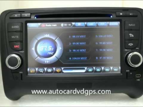 2006 2011 audi tt radio dvd gps navigation stereo. Black Bedroom Furniture Sets. Home Design Ideas
