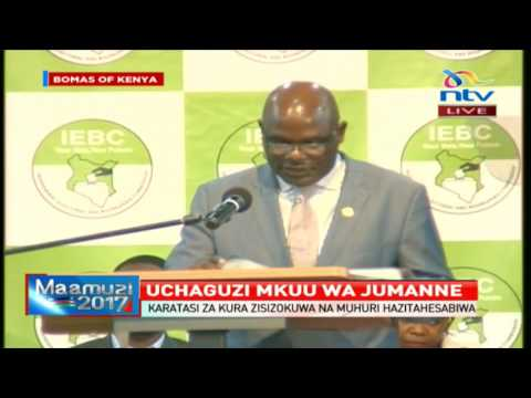 IEBC Chair Wafula Chebukati insists that the results transmission system will not be compromised