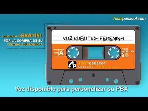 "Voz para PBX IVR tipo ""electrónica femenina"""