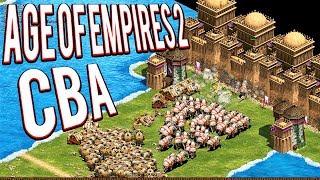 ELEPHANT SUPER UNITS! 4V4 CBA  - AGE OF EMPIRES 2 CBA GAMEPLAY LETS PLAY