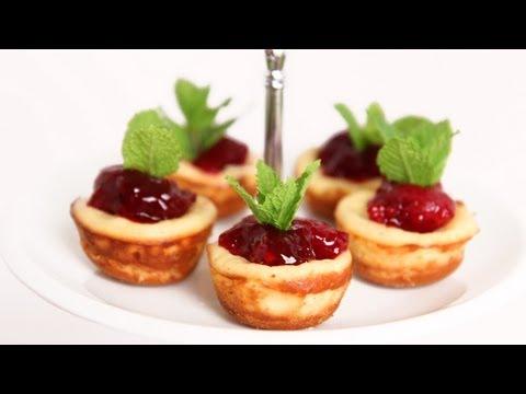 Mini Cherry Cheesecake Recipe - Laura Vitale - Laura in the Kitchen Episode 622