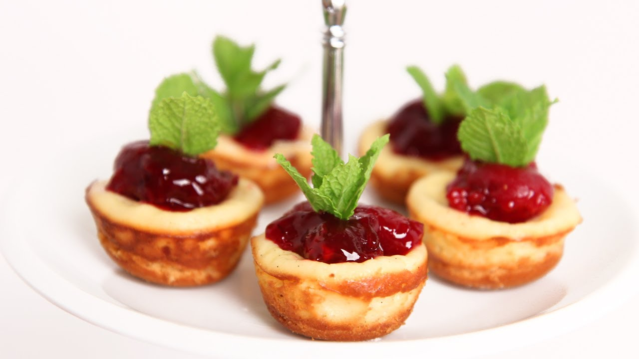 Mini Cherry Cheesecake Recipe - Laura Vitale - Laura in the Kitchen Episode 622