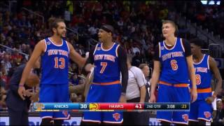 Carmelo PUNCHES Sefolosha in the Face!! - MELO EJECTED | Knicks vs Hawks