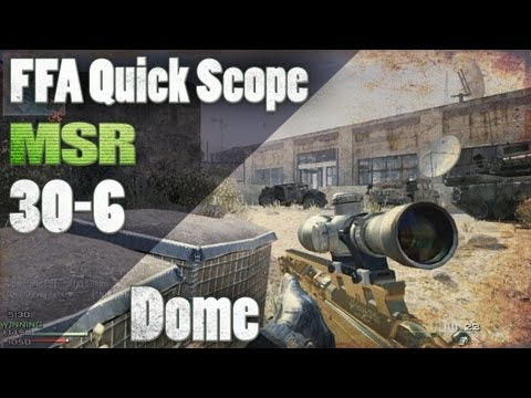 MW3 | MSR 30-6 on Dome - How to Deal with Frustration [Quick Scope]