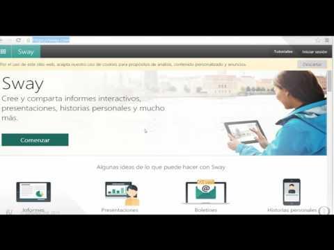 Webcast SoftwareONE- Office Sway: Cree y comparta informes interactivos, presentaciones.