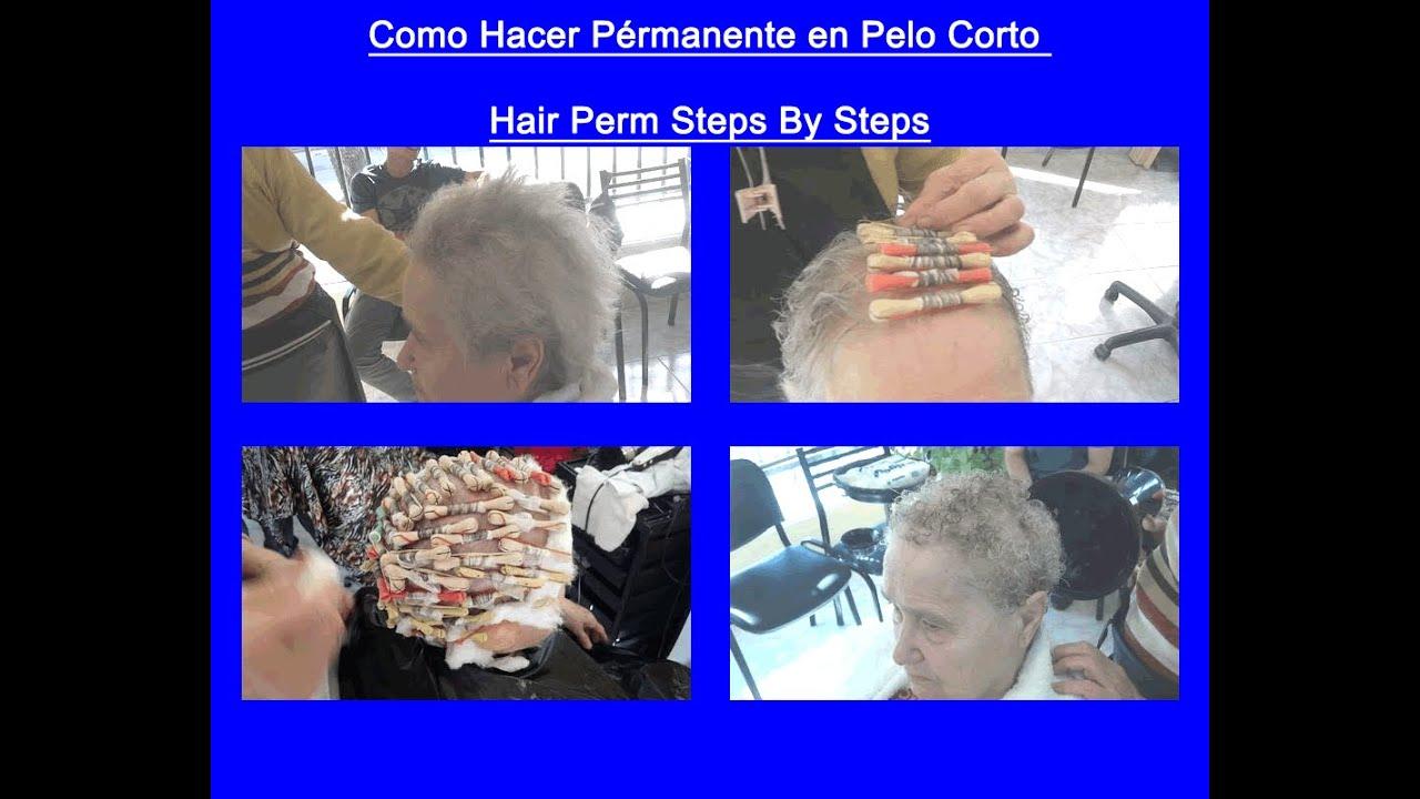 Hacer permanente en pelo corto