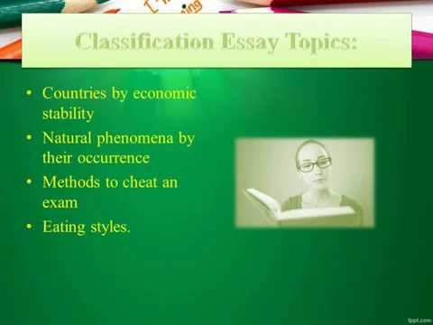 classification essay prompts   youtube