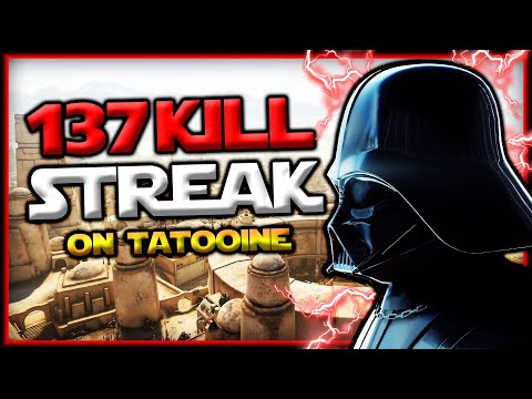 Star Wars Battlefront 2 Darth Vader 137 Killstreak (Tatooine)