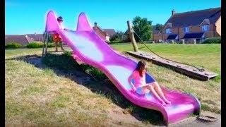 Playground Fun for Kids with Long Slides- Kids Fun