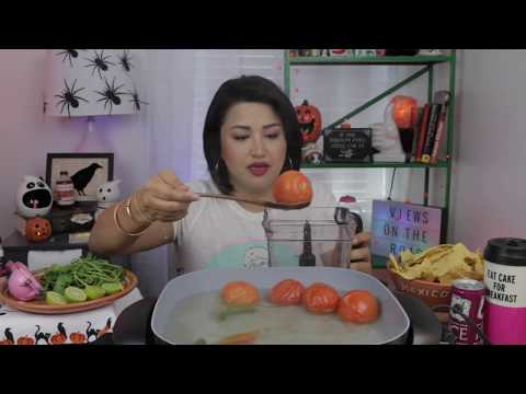 EASY MEXICAN SALASA RECIPE | MUKBANG WITH CHIPS | 5K SUBS CHAT