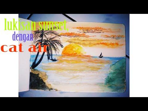 58+ Lukisan Kaligrafi Pemandangan Sunset Gratis