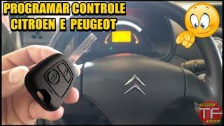 Como programar o controle original Citroën e Peugeot
