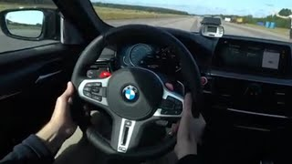 POV Launch Control 0-270 km/h M5 Competition 625 HP most BRUTAL BMW M5 yet 3.2 s to 100  km/h! [4k ]