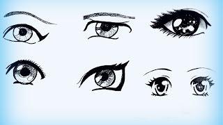 Уроки рисования. Как нарисовать АНИМЕ глаза(Говорят, что такая прорисовка глаз в аниме кроется в том, что нация Японии имеет комплекс по поводу своих..., 2015-01-18T13:53:58.000Z)