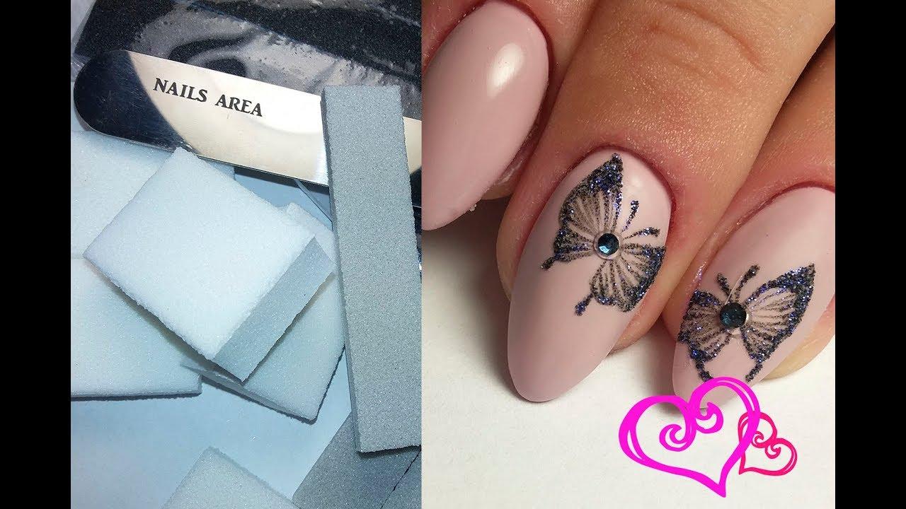Маникюр бабочка простая
