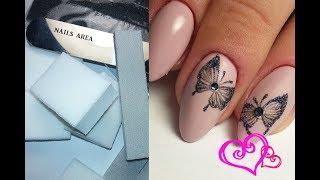 ❤ ЛЕГКИЙ и ПРОСТОЙ дизайн ногтей ❤ БАБОЧКА на ногтях ❤ ОДНОРАЗОВЫЕ пилки для МАНИКЮРА NAILS AREA ❤