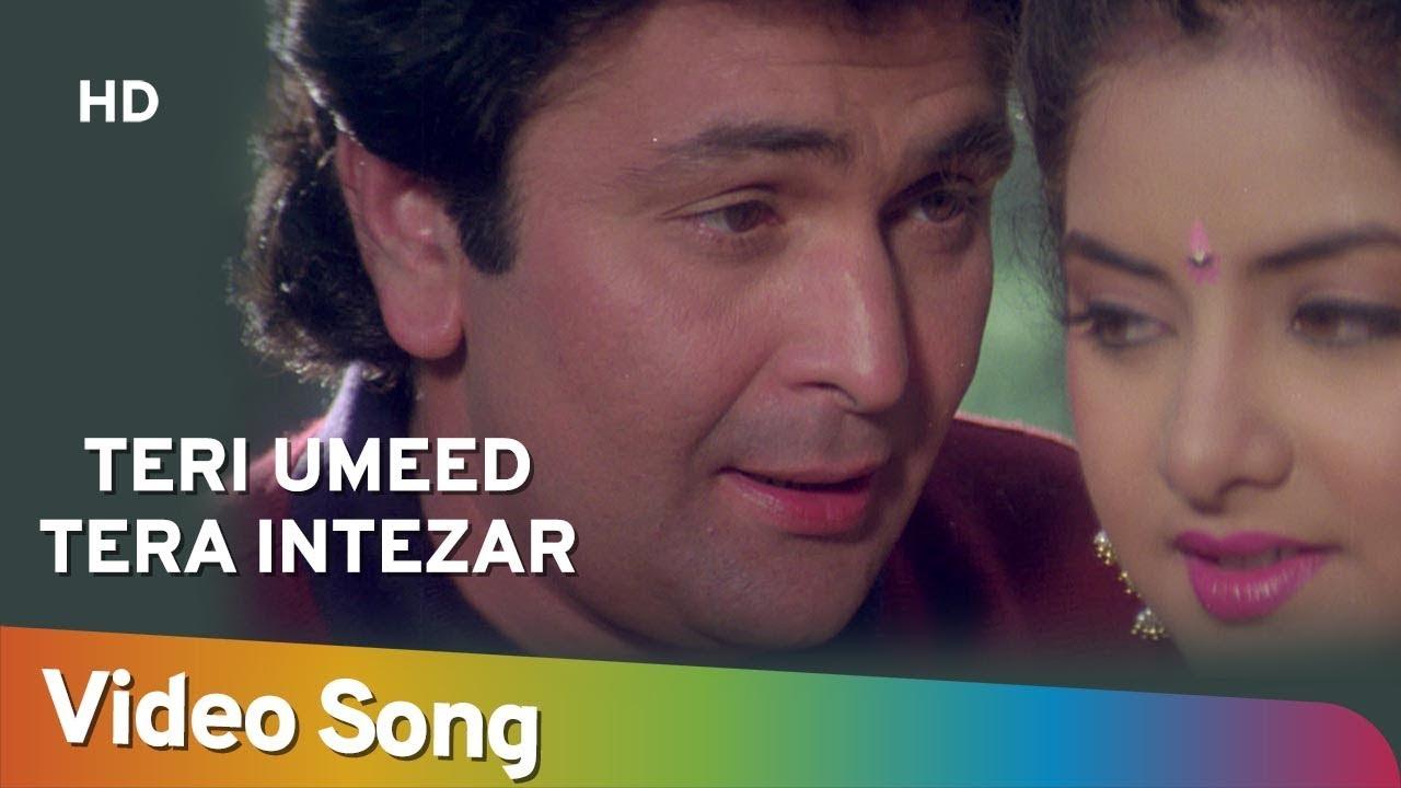Download Teri Ummid Tera Intezar (HD)   Deewana Song   Rishi Kapoor   Divya Bharti   Filmigaane