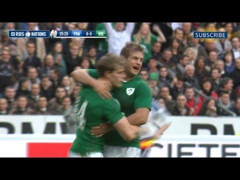 France v Ireland - First Half Highlights 15th March 2014
