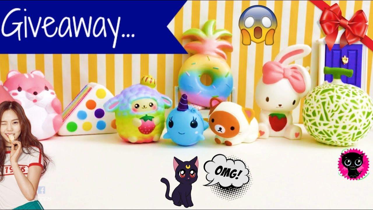 Squishy Giveaways : Dream Squishy Giveaway Contest *(^o^)/* Banggood Squishies!- KIMYOKITTEN - YouTube
