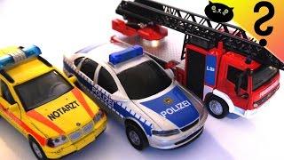 Polizei & Feuerwehr Einsatz Cars of the City: Spielzeug Bus Unfall Großeinsatz