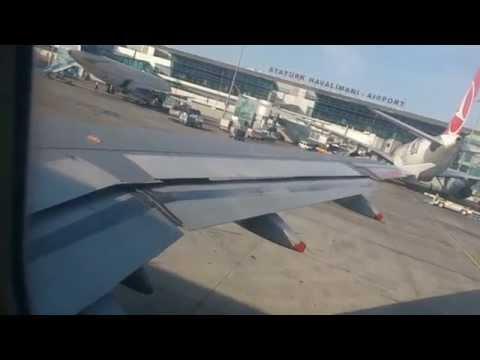 Plane Wing taking off & landing Airports Istanbul Ataturk, London Heathrow British Airways 679 A320