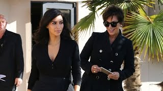 Kris Jenner Accompanies Kim Kardashian And Her New Hair Do To The DMV