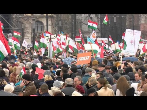 Hungary's nationalist prime minister campaigns against migration at election ally