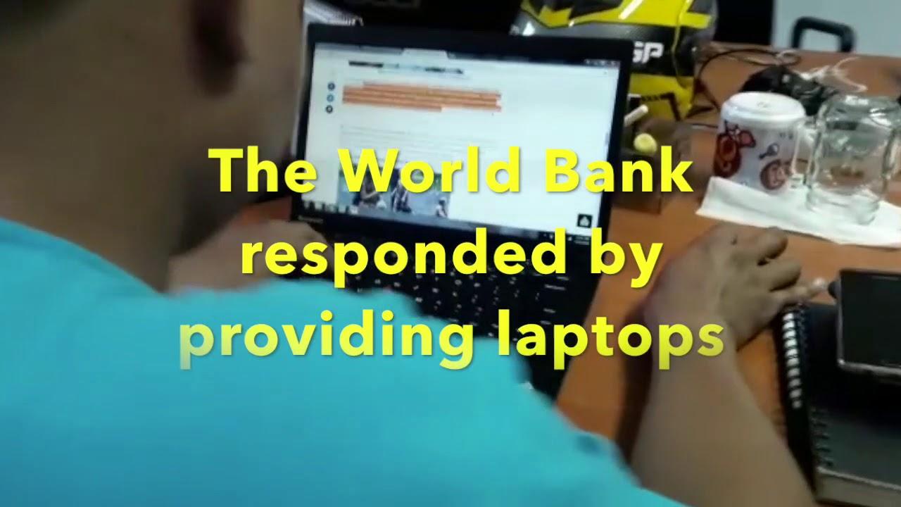 World Bank supports Laptop to HOPE worldwide Indonesia - YouTube
