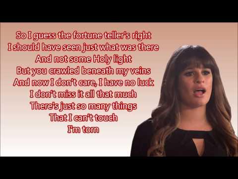 Torn (glee Version) - Rachel + DOWNLOAD LINK