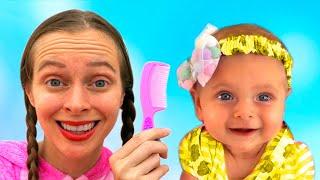 Maya and Sofia play beauty salon