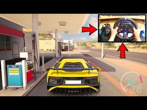 Forza Horizon 3 Driving Lamborghini Aventador SV (Steering Wheel + Paddle Shifters) Gameplay