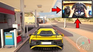 Forza Horizon 3 Driving Lamborghini Aventador SV (Steering Wheel + Paddle Shifters) Gameplay