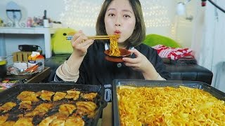 #4 LAST EPISODE of How to enjoy super spicy noodles! [ Pork Belly Creamy Noodles!] Cooking/Mukbang